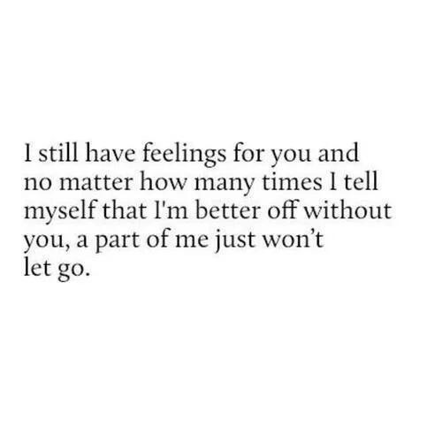 feelings for ex boyfriend