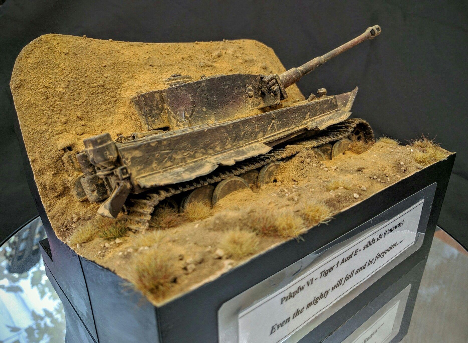 how to make a model tank diorama