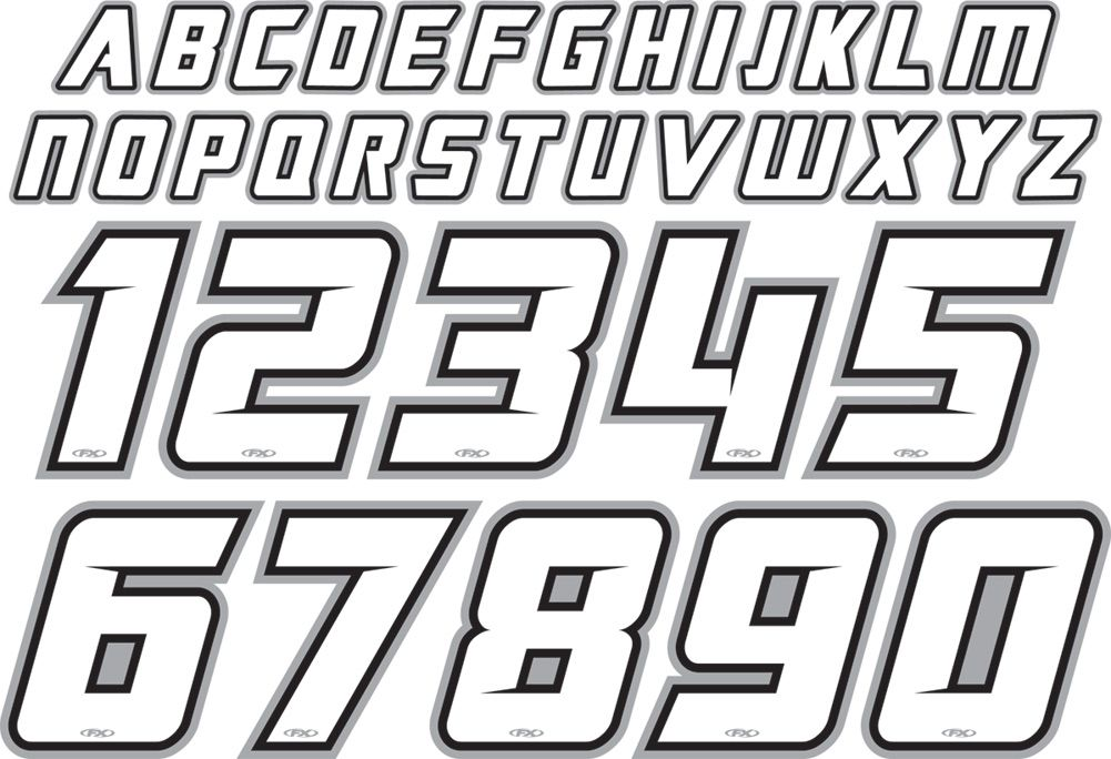 Factory Effex Jersey Iron On Id Kit Huruf Desain Logo Objek Gambar