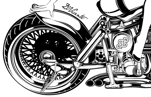Motorcycles Illustrations By David Vicente Via Behance