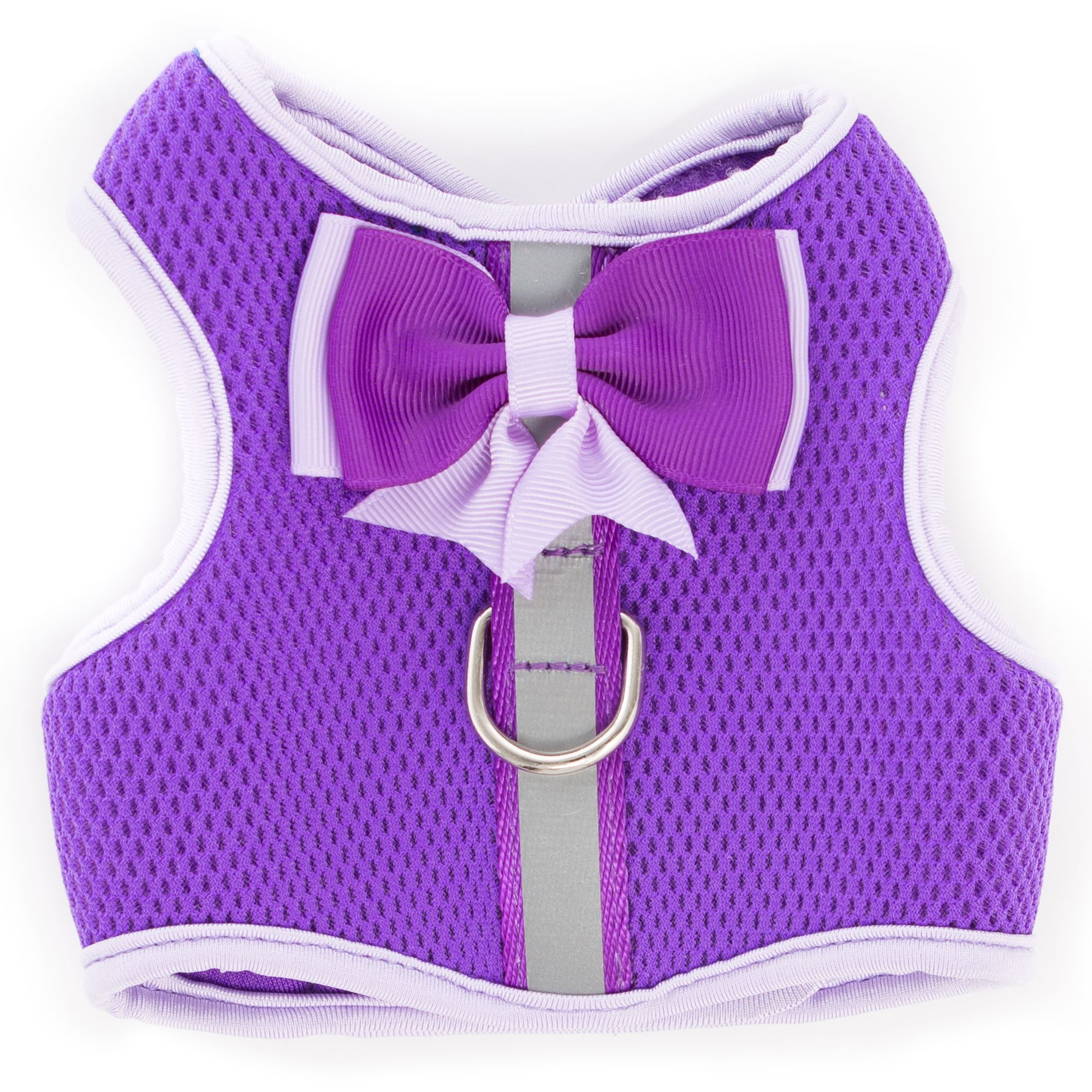 Top Paw Bow Reflective Vest Dog Harness Size X Small Purple