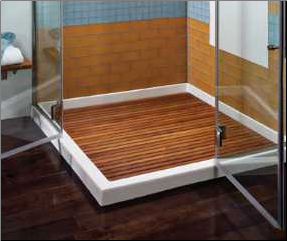 Teak Shower Floor Inserts | various pre-made sizes or custom ...