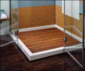 teak shower floor inserts | various pre-made sizes or custom