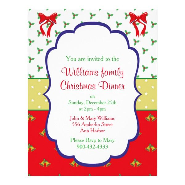 Christmas Dinner Invitation Flyer Custom Office Party #office - dinner flyer