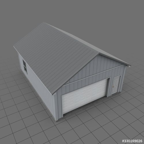 Pole barn garage. Buy this stock 3d asset and explore similar assets at Adobe Stock