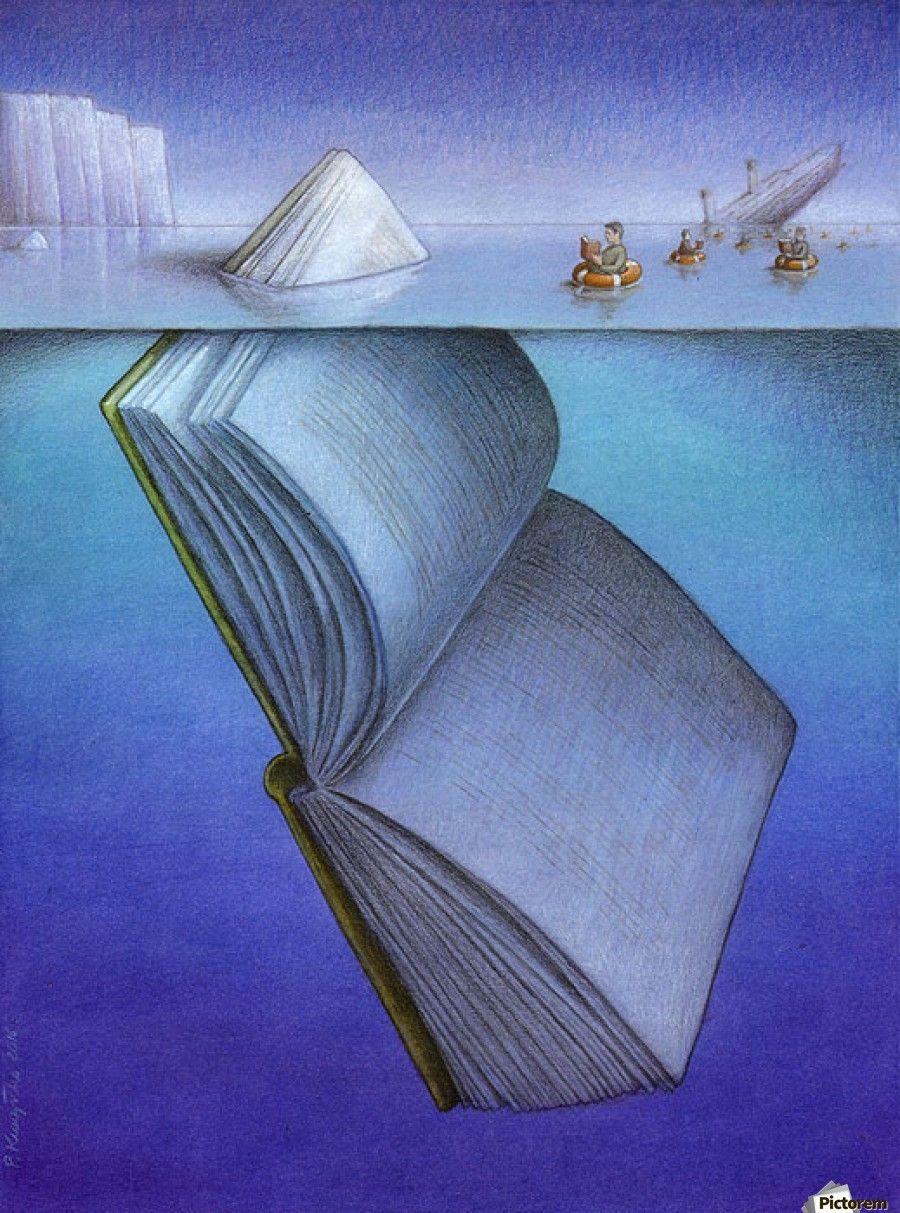 iceberg  Pawel Kuczynski   Canvas Artwork is part of Satirical illustrations - iceberg  Pawel Kuczynski    Canvas Print