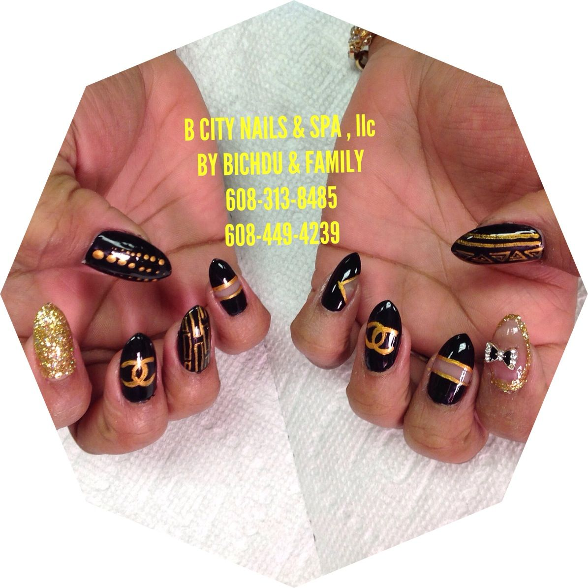 #B CITY NAILS & SPA,llc 2632 PRAIRIE AVE , BELOIT , WI 53511 MON - SAT : 9:30 am - 7:30 pm SUNDAY : 11:00 am - 5:00 pm 608-313-8485 or608-449-4239 STOP IN LET US DO YOUR NAILS