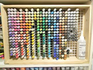 My Copic Storage Crafts On The Run Marker Storage Craft Storage Craft Room Storage