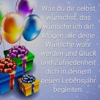 """Geburtstagsspruch: """"Was du dir selbst wünschst, das wünsche ich dir! Mögen alle deine Wünsche wahr werden und Glück und Zufriedenheit dich in deinem neuen Lebensjahr begleiten."""" Mehr Sprüche zum Geburtstag gibt es auf Mein-wahres-Ich.de"""