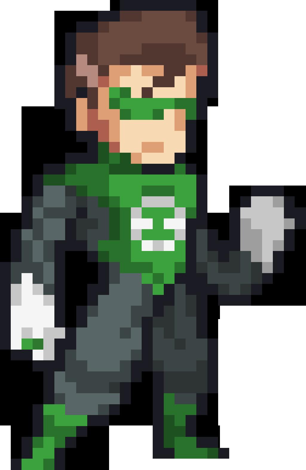 Green Lantern Pixel Art Pattern