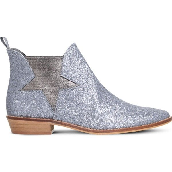 STELLA MCCARTNEY Lily glitter Chelsea boots 3-11 years ($140) ❤ liked on Polyvore featuring silver