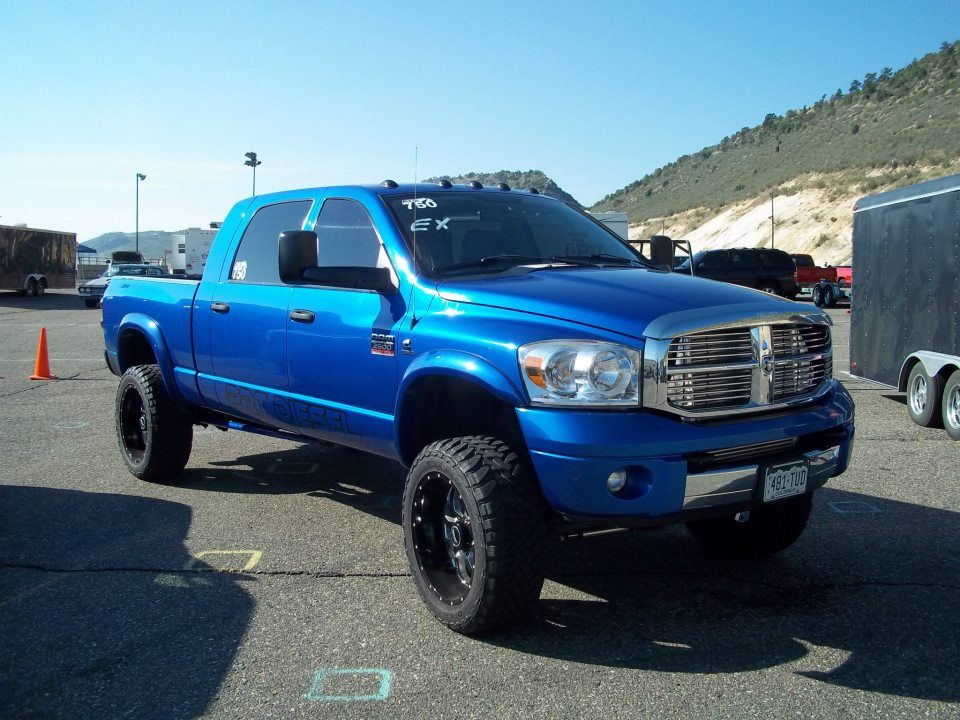 My Freaking Dream Truck Electric Blue Mega Cab Mins 6 Sd