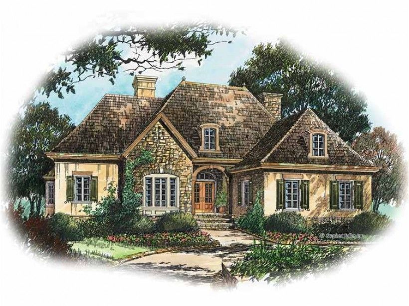 Country Style House Plan 3 Beds 2 5 Baths 2598 Sq Ft Plan 429 207 French Country House French Country House Plans Country Style House Plans