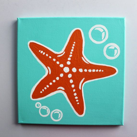 Starfish Painting on Pinterest   Seashell Painting ...