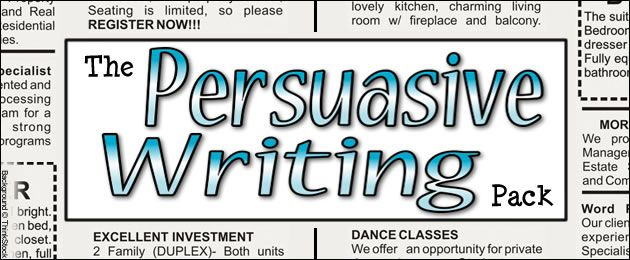 The persuasive writing pack pinterest persuasive writing the persuasive writing pack spiritdancerdesigns Choice Image