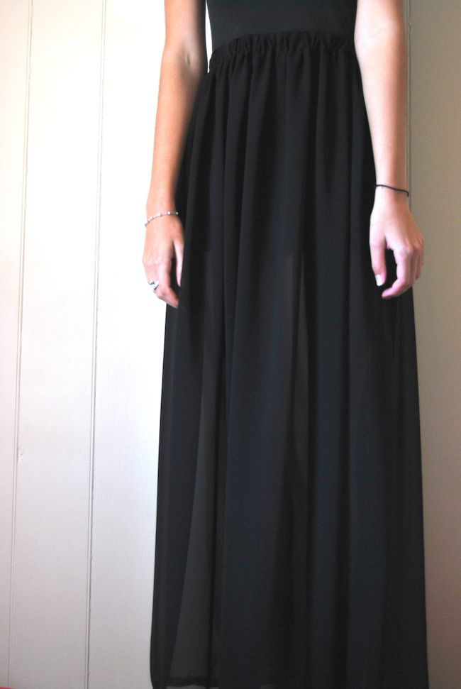 LUAR: How to: DIY Black Chiffon Maxi Skirt | Things I Want to Make ...