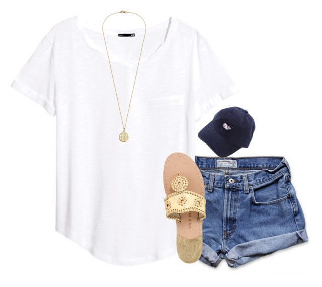 """""""{exact ootd}"""" by preppy-southern-girl-1-2-3 ❤ liked on Polyvore featuring Abercrombie & Fitch, H&M and Jack Rogers"""