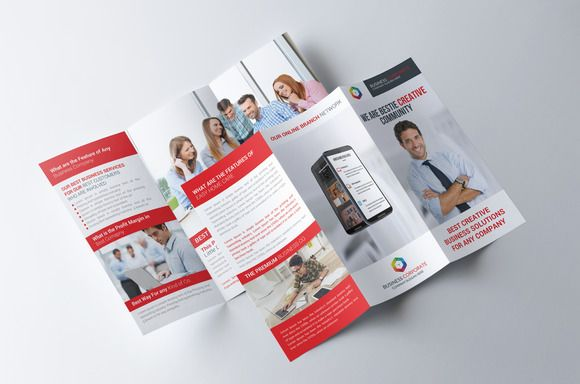 Flat Tri-fold Brochure Template by Party Flyers on - party brochure template