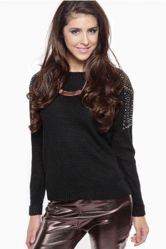 6dc58649e0d Jeweled Knit Sweater
