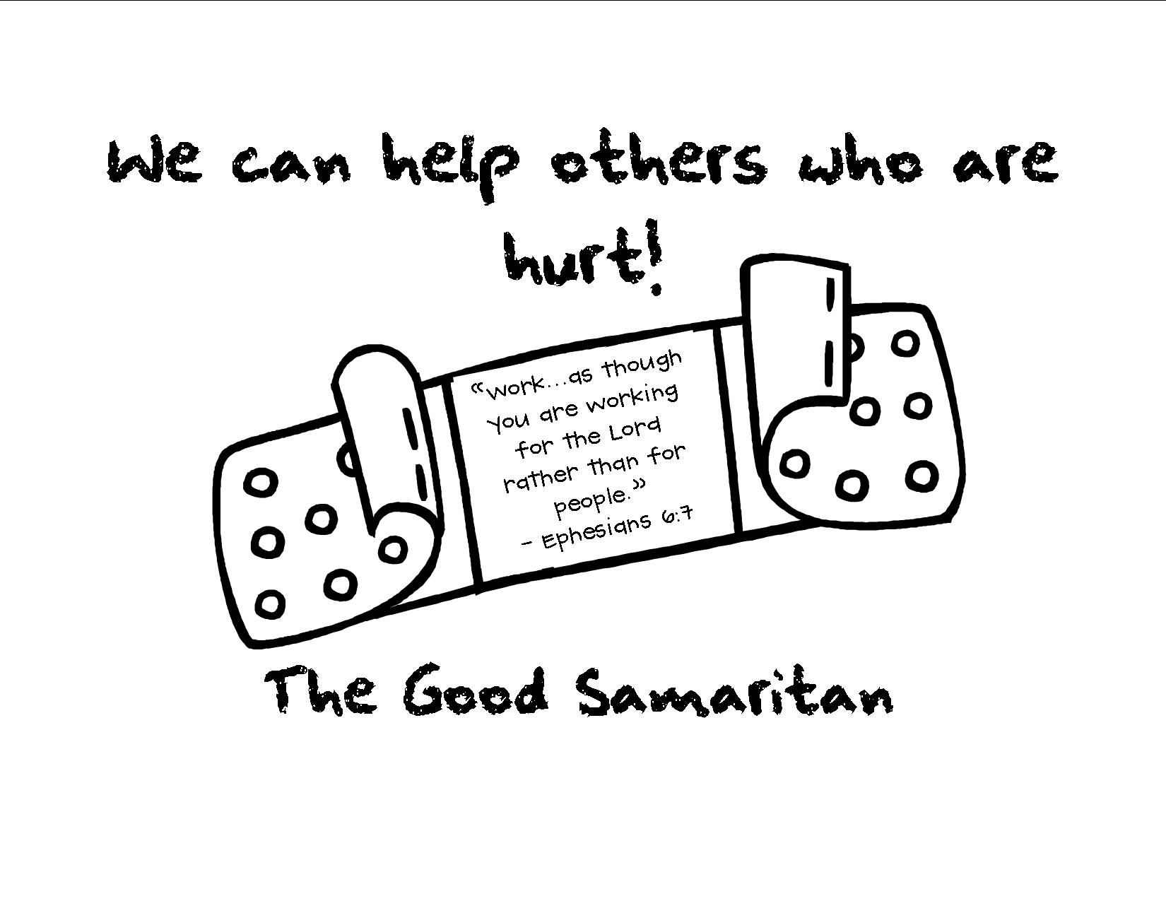 Labels For Our Good Samaritan Bags We Will Decorate