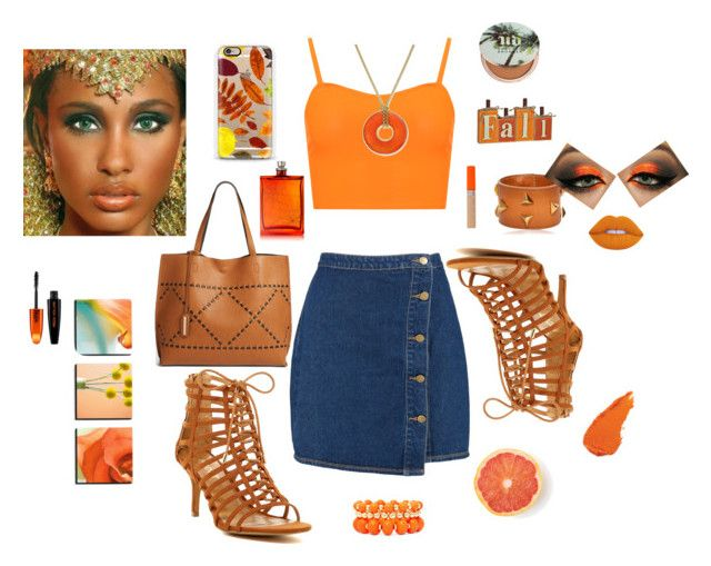 """""""Orange Autumn"""" by dezzi17 on Polyvore featuring WearAll, Boohoo, Report, Street Level, Casetify, Yves Saint Laurent, Urban Decay, The Beautiful Mind Series, Rimmel and L'Oréal Paris"""