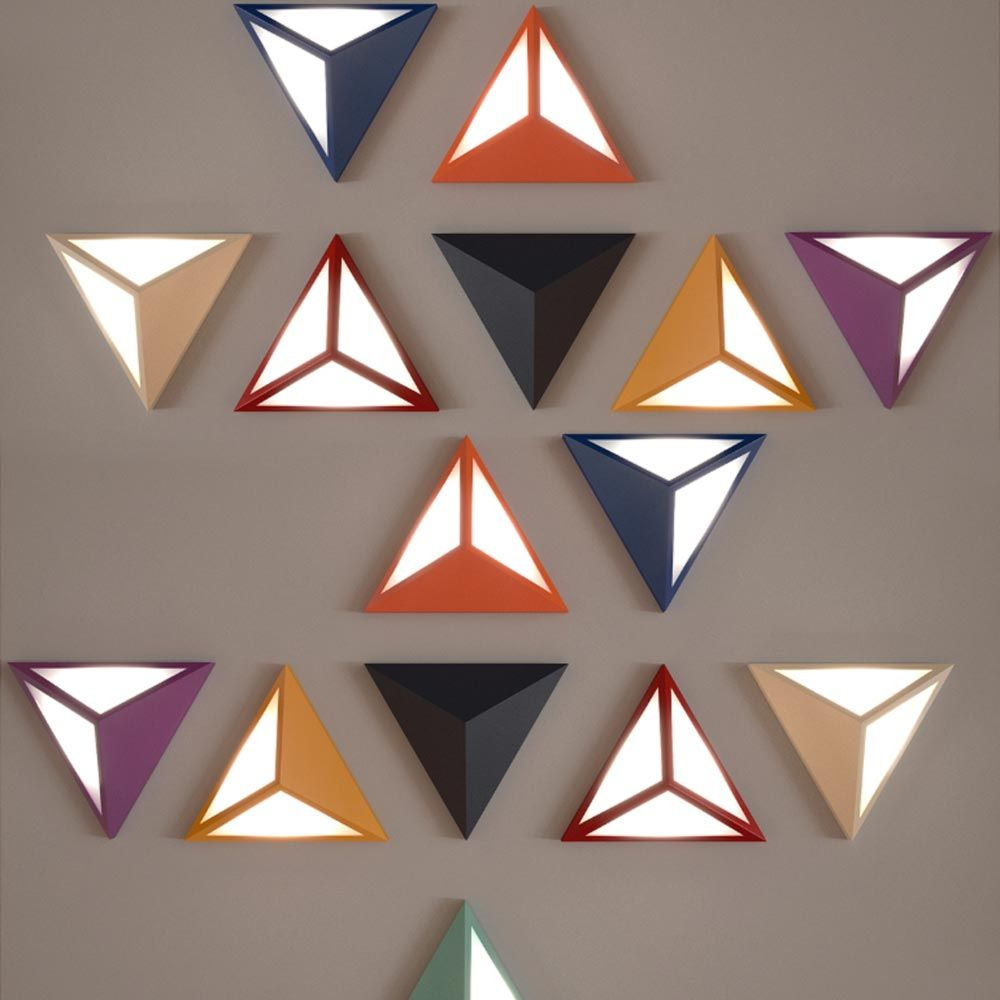 LED Triangle Wall Light CLB 00579 (With images) | Triangle