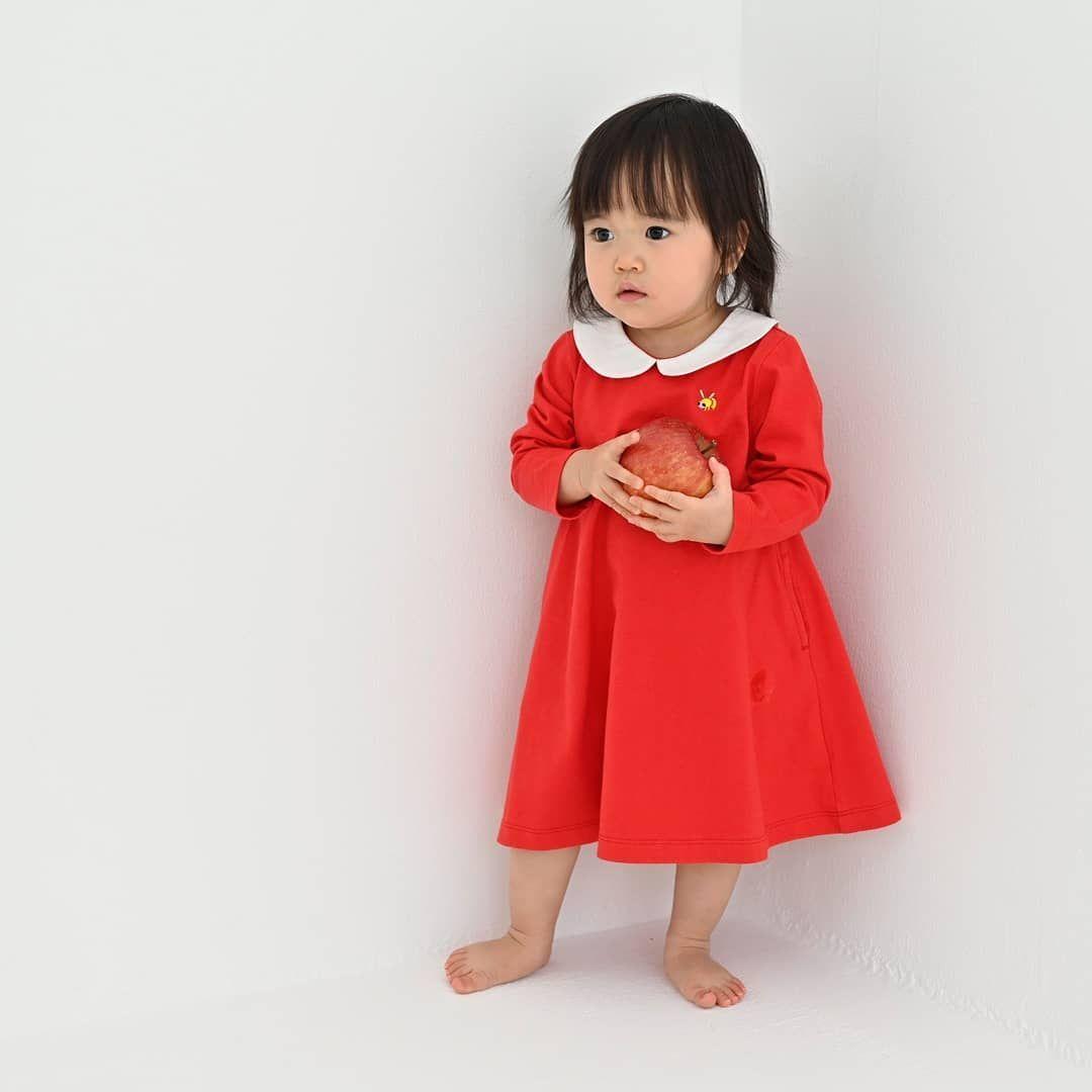 丸襟刺繍ワンピース はちちゃん 3 270 とにかくキュートなはちちゃんワンピース 同色の丸いボタンで 後ろ姿も可愛く決まります 6400円分のお買い物が当たる 2月の締切まであと3日 インセクトコレクション寄付 fashion summer dresses dresses