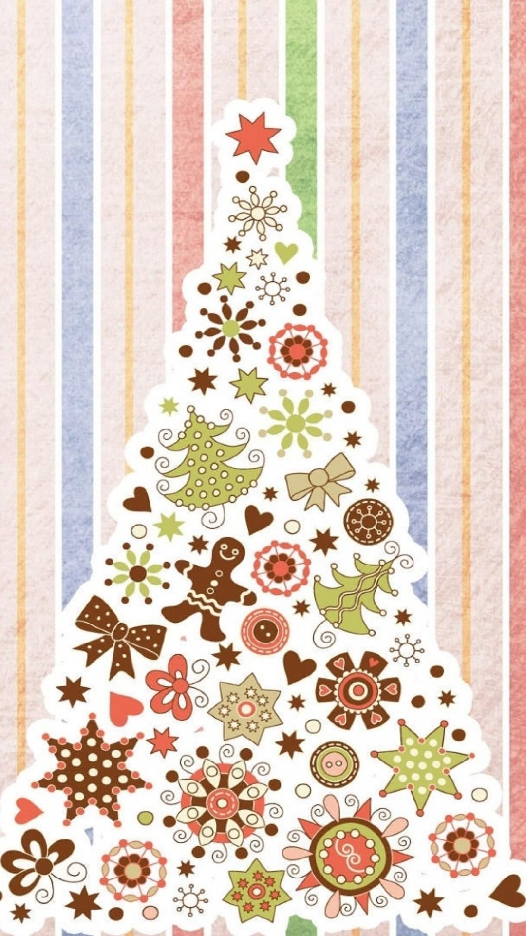Christmas Tree Pattern Background IPhone 6 Wallpaper