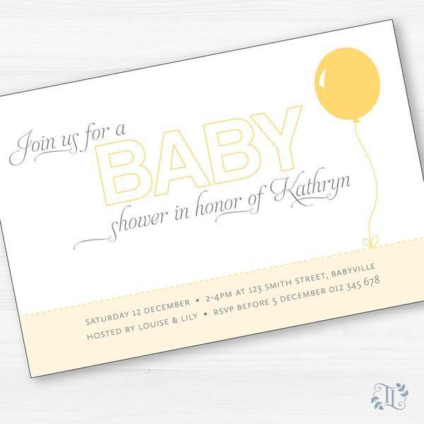 Balloon printable baby shower invitation gender neutral design balloon printable baby shower invitation gender neutral design httpsshop filmwisefo