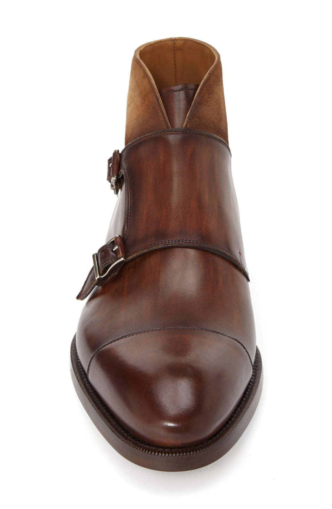 932a9a3fc93 Magnanni  Valerio  Monk Strap Chukka Boot (Men)