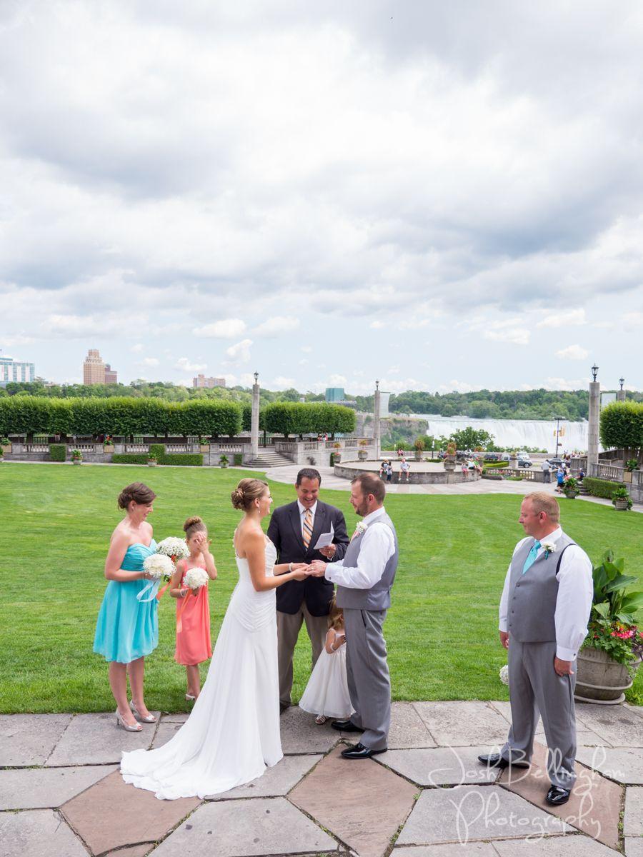 Wedding Ceremony At Niagara Falls Niagara Parks Weddings Niagaraparkswed Has The Most Beautiful We Niagara Wedding Niagara Wedding Photographer Park Weddings