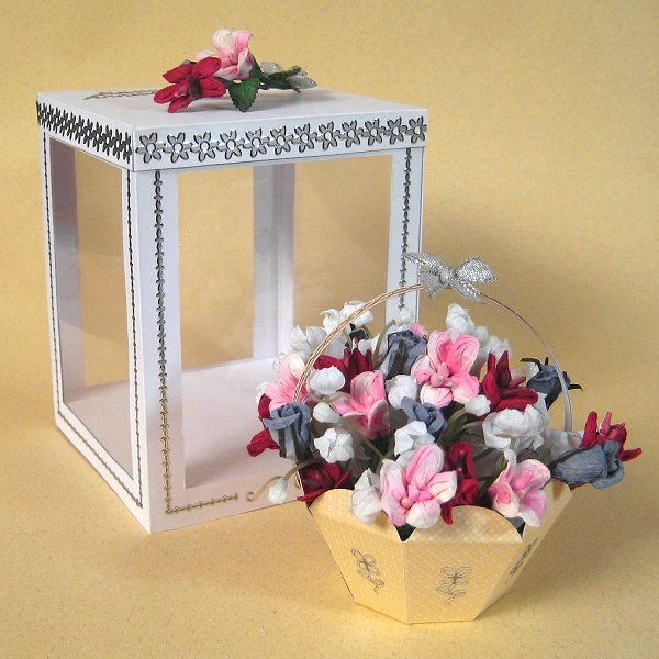 Card Craft / Card Making Templates - Flower Basket and Display Box
