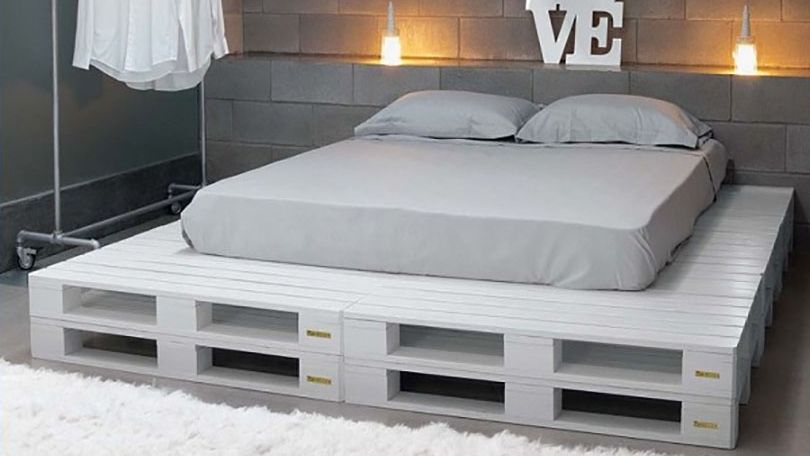 Especial paletes em madeira - base para cama Palets Pinterest - camas con tarimas