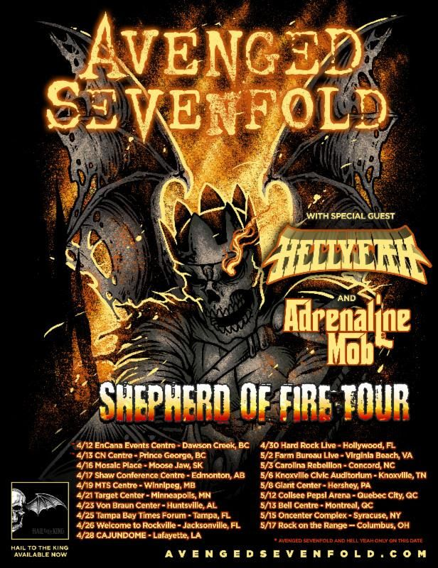 Pin by Cyrus Valero on Rock Tour Posters Avenged