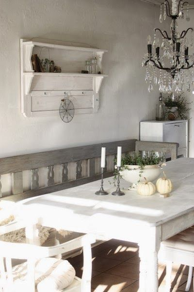 So Jdl Rustic Simple Elegant Wish I Could Pull It Off In My Formal Dining Room Sigh Shabby Chic Dining Shabby Chic Kuche Und Schabby Schick