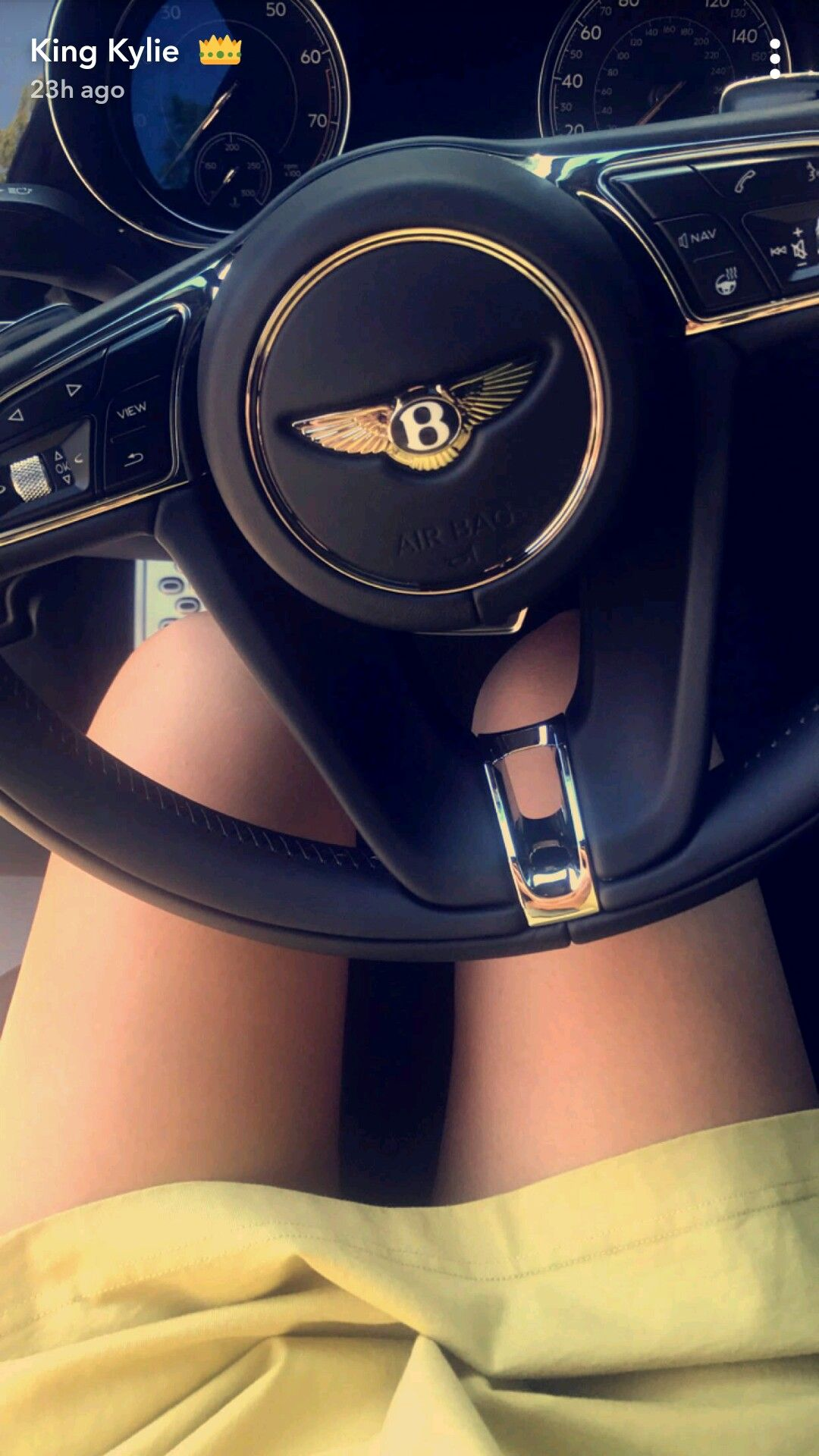 Bentley car image as seen on Kylie Jenner s Snapchat