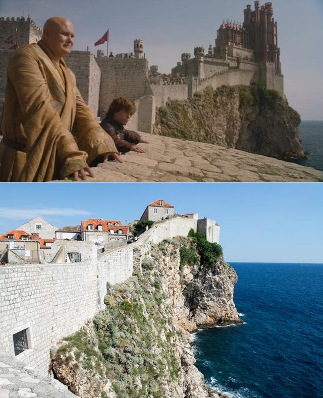cgi helped turn these real locations into the world of game of thrones dubrovnik croatia. Black Bedroom Furniture Sets. Home Design Ideas