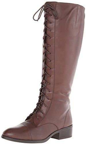 boots: Lauren Ralph Lauren Women's Martina Wide Calf Riding Boot, Dark Brown,  B US