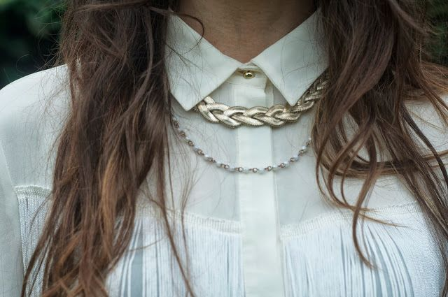 daydreaming-daisy.blogspot.co.uk #fashionblog #fringing #detail #gold #jewellery #collar #blogger