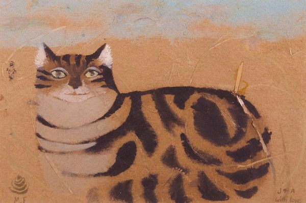 Mary Fedden, R.A. (1915-2012) - Cat (c. 1980)