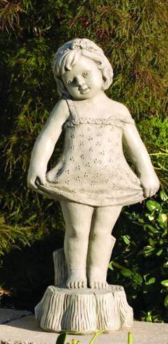 Elegant Bashful Girl Large Cement Garden Statue