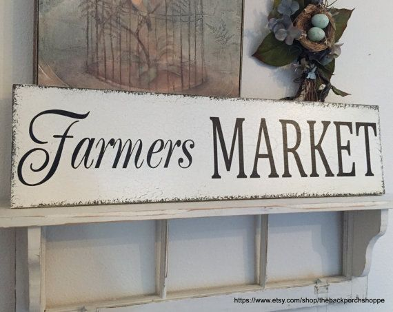 Kitchen Makeover Reveal A Giveaway Farmers Market Sign Diy