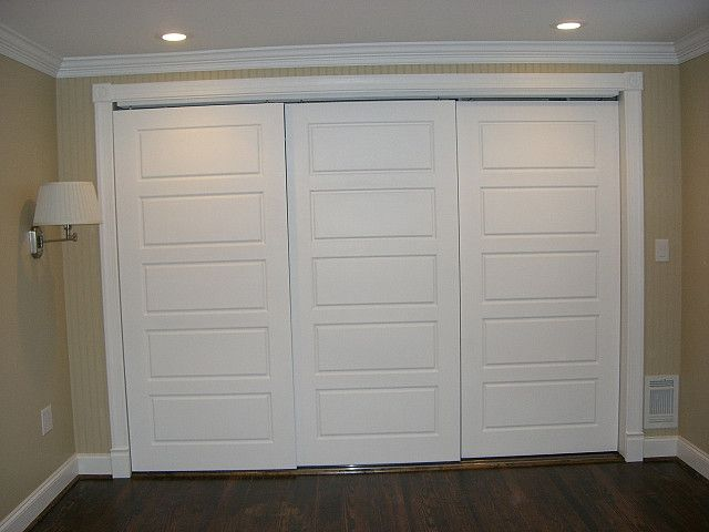 Triple Sliding Closet Doors Home Decor