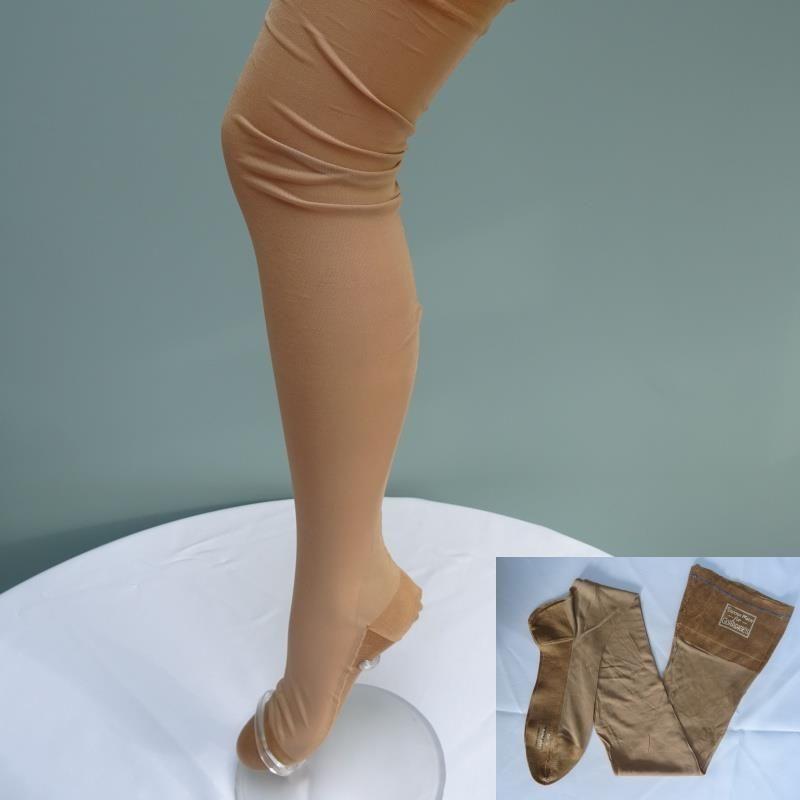 9f351f9872c Vintage 1940s WW2 Era Ladies Stockings Rayon   Silk Seamed Unworn Gorringes   Gorringes  Stockings