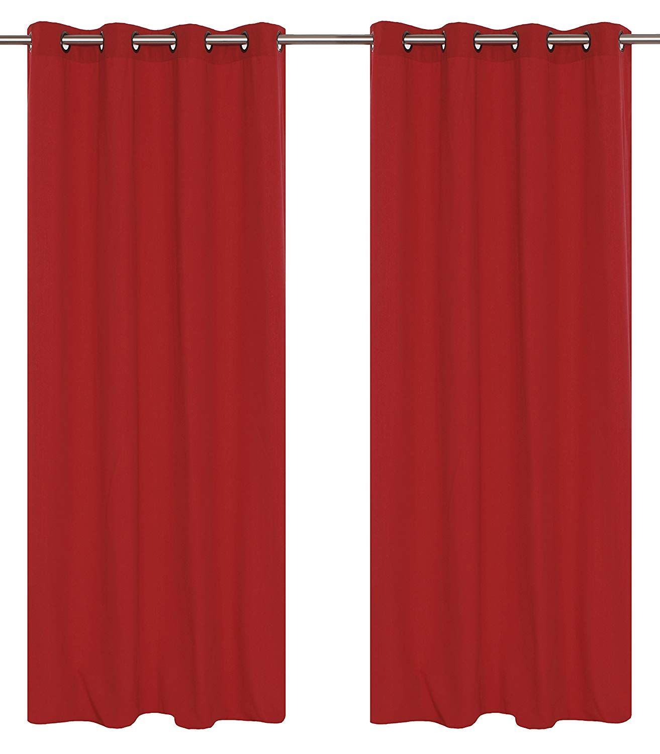 Lj Home Fashions Karma Cotton Like Grommet Curtain Panels Set Of 2