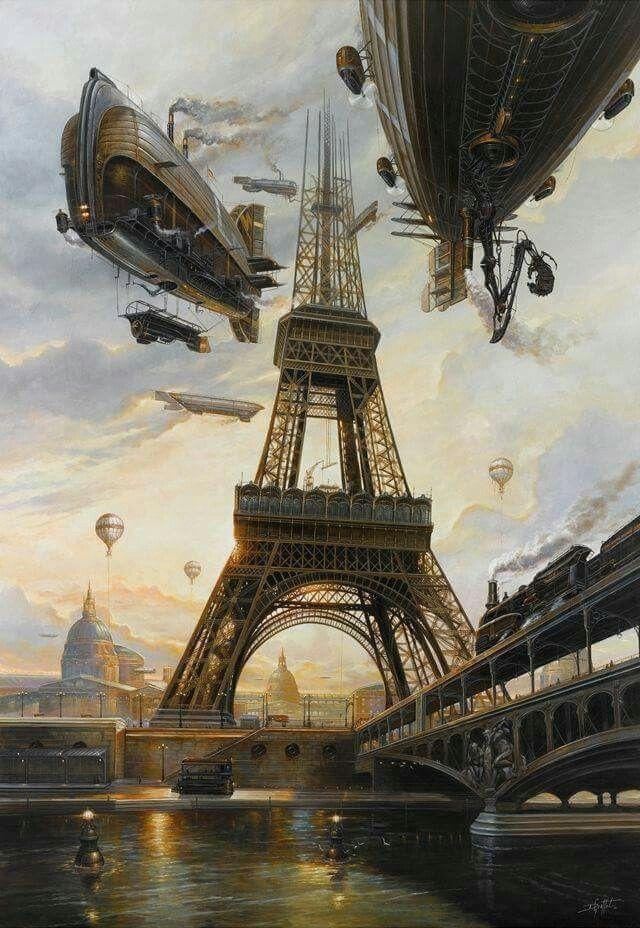Steampunk Paris   Steampunk artwork, Steampunk art, Steampunk airship