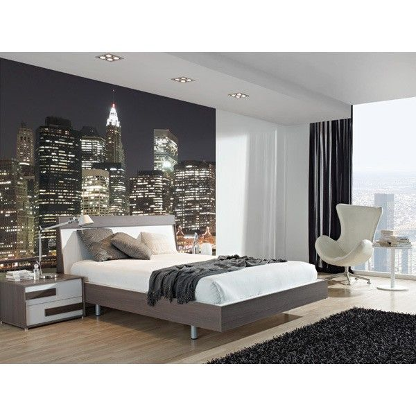 Ny city lights mural bloompapers wallpapers home for City lights mural