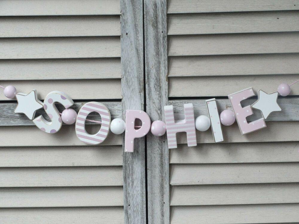 """""""SOPHIE"""" NAMENSKETTE SHABBY ROSA KINDERZIMMER"""