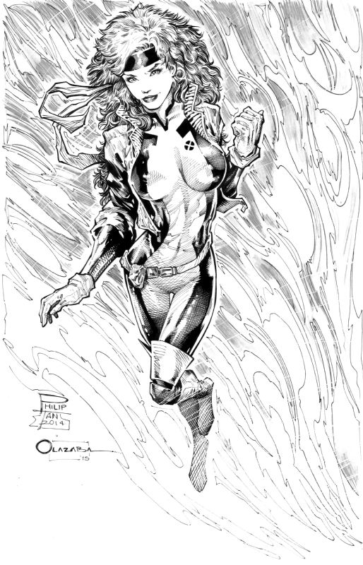 Rogue Jim Lee 90s Costume By Philip Tan Victor Olazaba Comic Art Xmen Art Marvel Rogue Comic Art