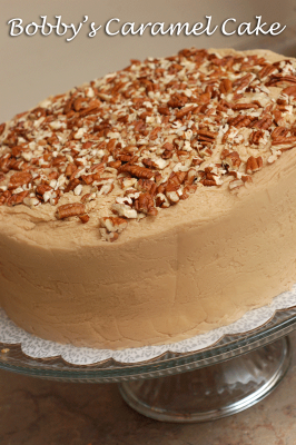 Paula Deen Pecan Spice Layer Cake With Caramel Frosting